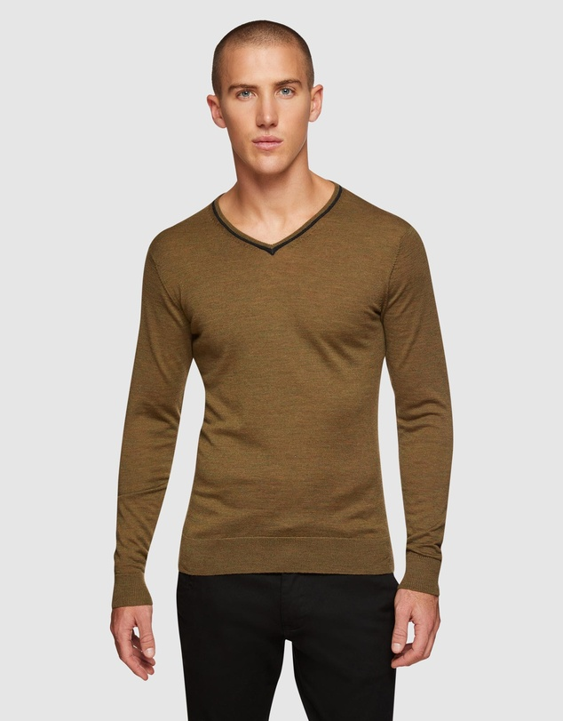 Oxford - Perry Tipping V-neck Wool Pullover