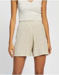 AERE - Cable Knit Shorts