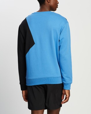 New Balance NB Athletics Village Fleece Crew - Crew Necks (Faded Cobalt)