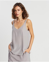 Assembly Label - Silk Deep V Cami Top