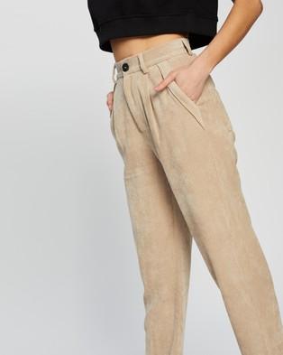 Dazie Carmen Corduroy Pants - Pants (Oatmeal)