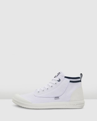 Volley Heritage High - High Top Sneakers (White/Navy)