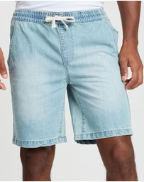 Denim Pull On Shorts