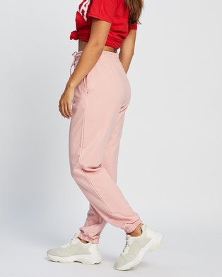 Missguided 90s Oversized Joggers - Sweatpants (Powder Pink)