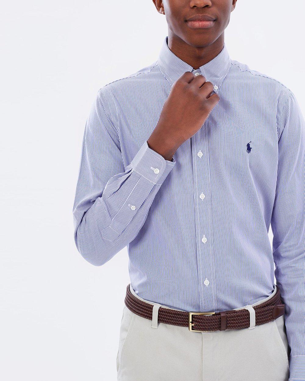 178ea45fdd5fc Striped Cotton Poplin Shirt by Polo Ralph Lauren Online