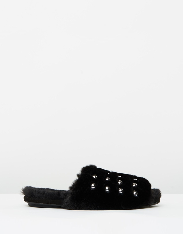 SPURR - Zeddie Faux Fur Slides