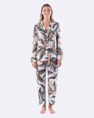 DREAM WITH ME Palm Pyjama Set - Two-piece sets (White)