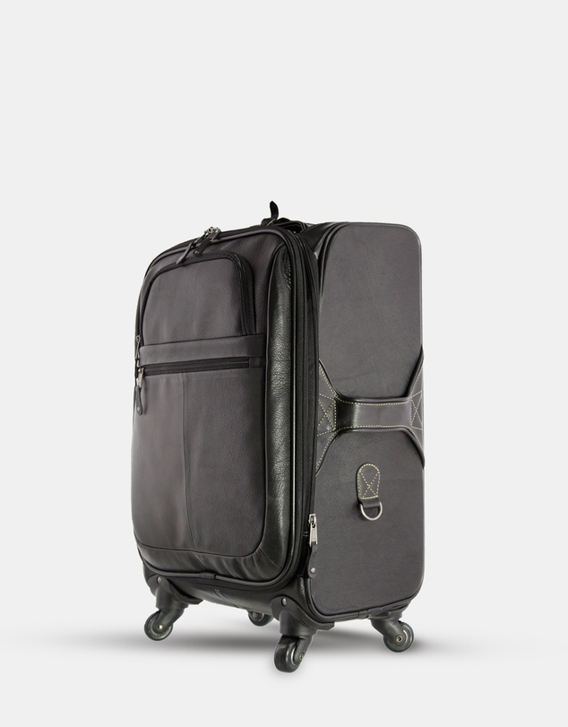 Women Cooper Leather On Board Luggage