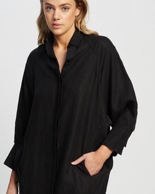 Andrea & Joen Evie Shirt Dress - Dresses (Black)