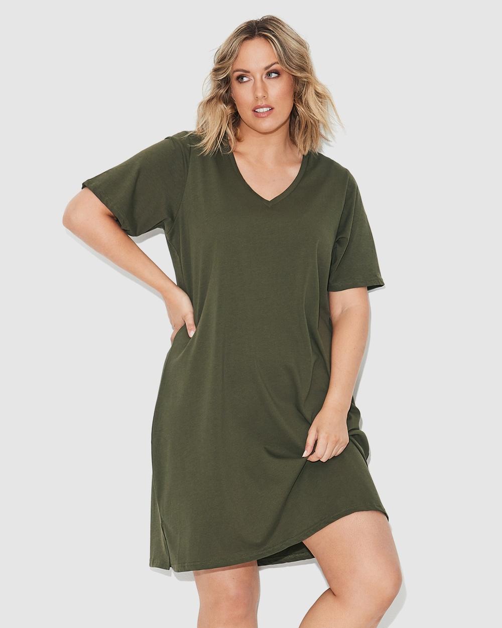 17 Sundays Tee Dress Dresses Green