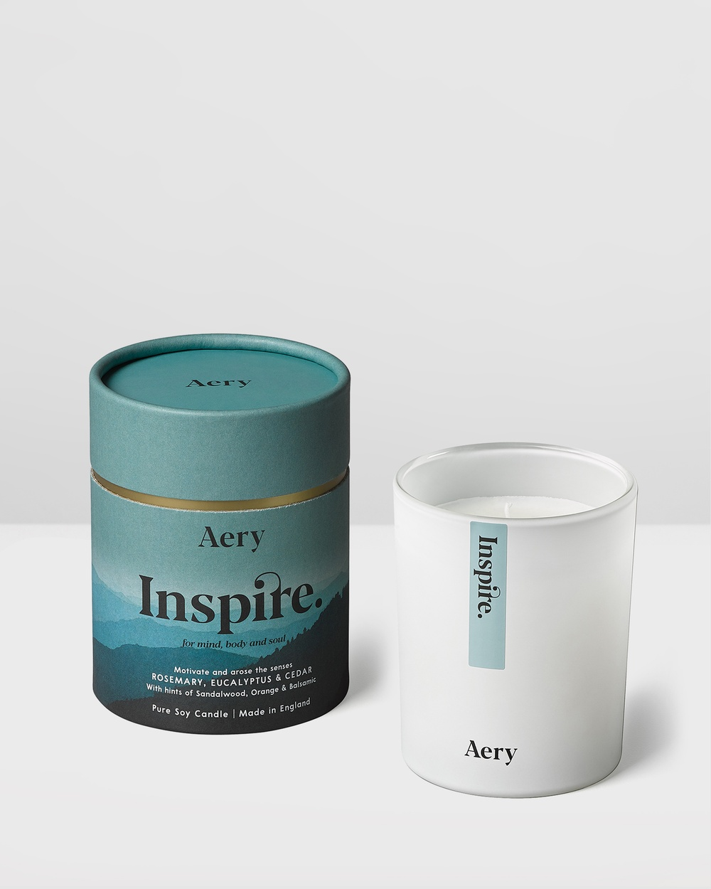Aery Living Mindful 200g Soy Candle Candles Blue