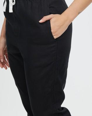 Assembly Label Anya Linen Pants - Pants (Black)