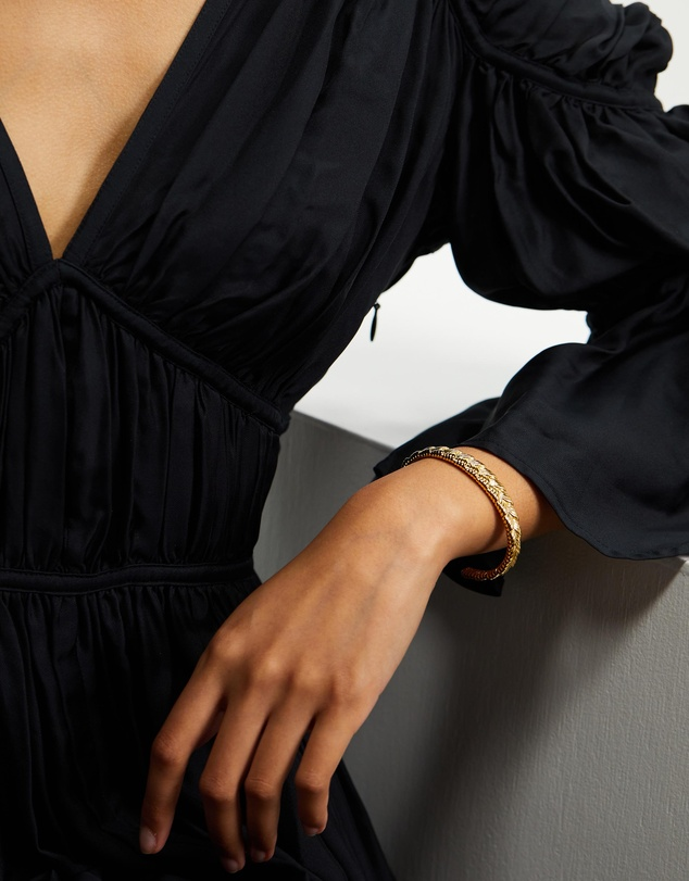 Women Textured Braided Cuff
