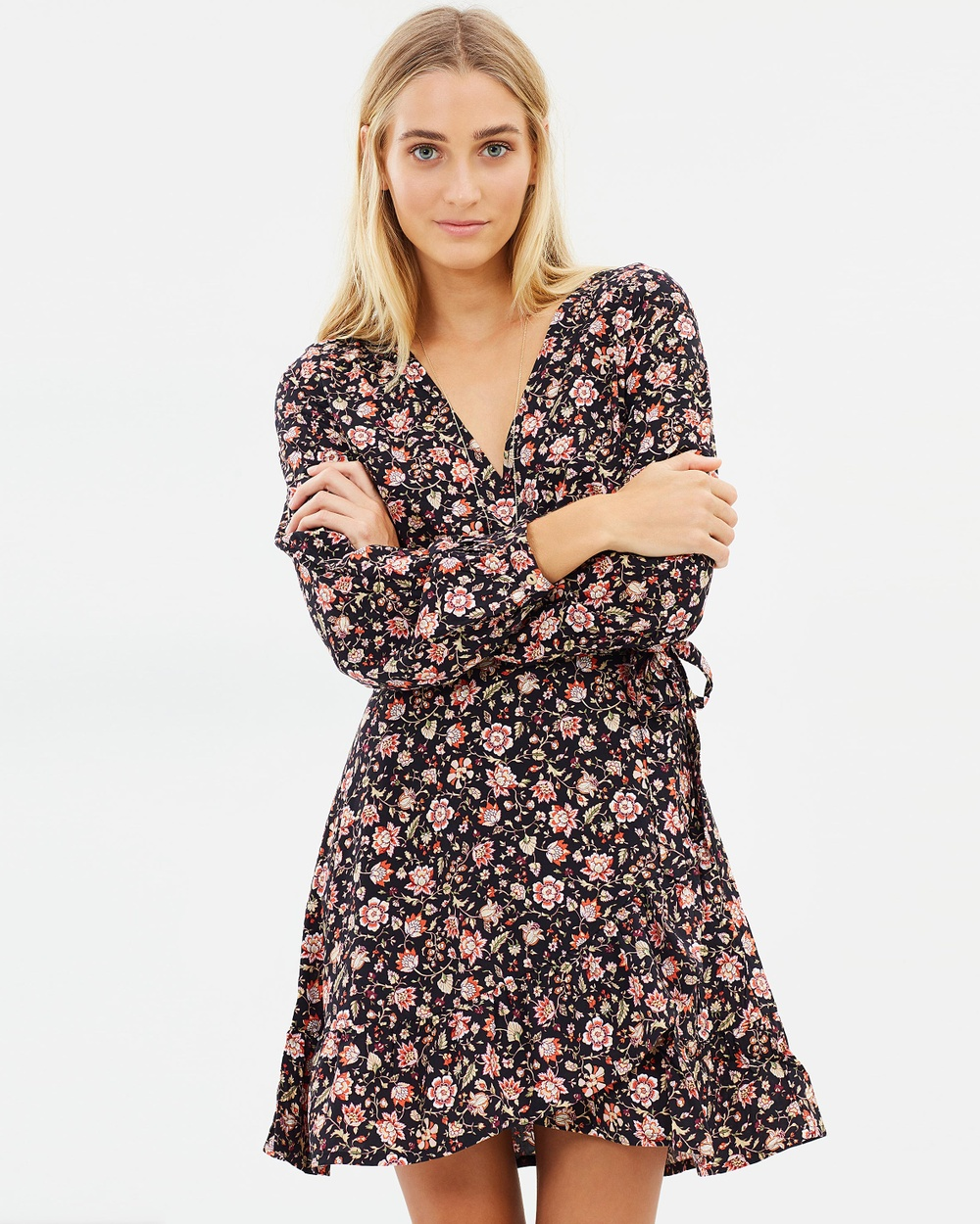 Tigerlily Marquisa Dress Printed Dresses Washed Black Marquisa Dress