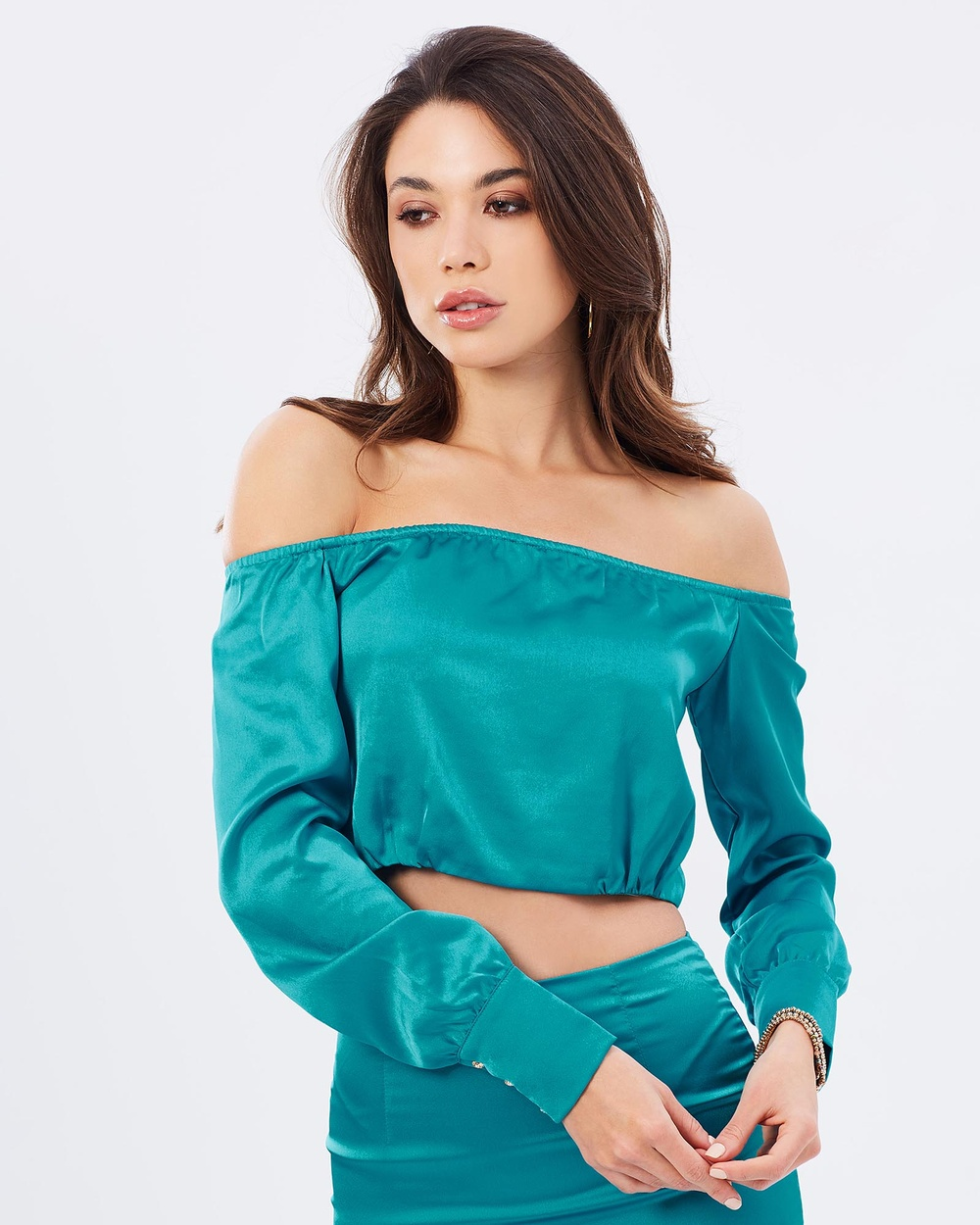 BSSA Gisele Crop Cropped tops Turquoise Gisele Crop