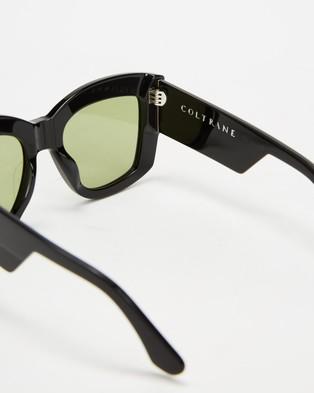 Valley Coltrane - Sunglasses (Gloss Black & Olive Green)