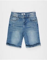 Free by Cotton On - Bermuda Denim Shorts - Teens