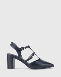 Wittner - Davor Leather Pointed Toe Block Heels
