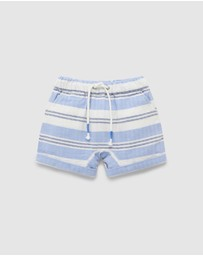 Purebaby - Slouchy Stripe Shorts - Babies