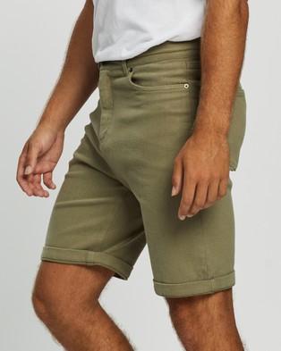 Staple Superior Organic Organic Five Pocket Shorts - Chino Shorts (Light Khaki)