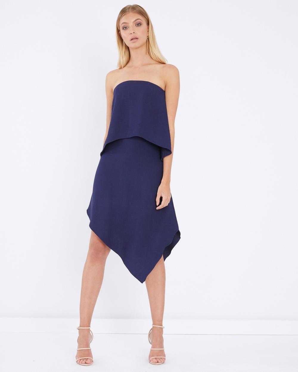 Tussah Tassie Midi Dress Bridesmaid Dresses Navy Tassie Midi Dress