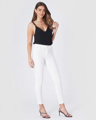Amelius Skyscraper Jeans - High-Waisted (White)