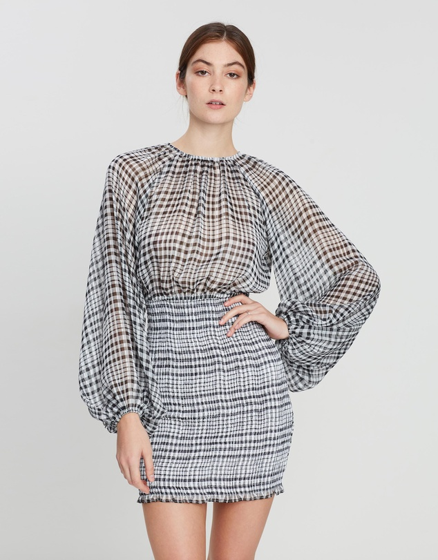 C/MEO COLLECTIVE - Stealing Sunshine Long Sleeve Dress