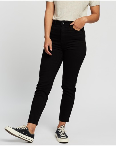 Silent Theory Sierra Mom Jeans Midnight Black