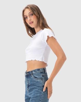 Cools Club - Club Lettuce Edge Tee - T-Shirts & Singlets (White) Club Lettuce Edge Tee
