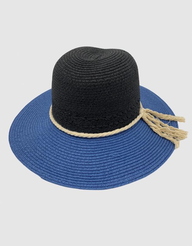 Women Jacaru 1870 Black & Blue Ladies Hat