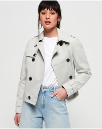Superdry - Cropped Azure Trench Coat