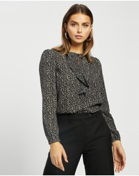 Atmos&Here - Ruth Ruffle Front Blouse