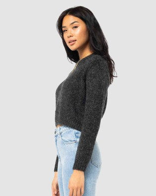 Rusty - Woodstock Crew Neck Knit Jumpers & Cardigans (BLK)