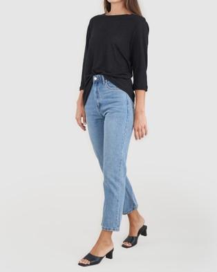 Amelius Bronte Linen T Shirt - T-Shirts & Singlets (Black)