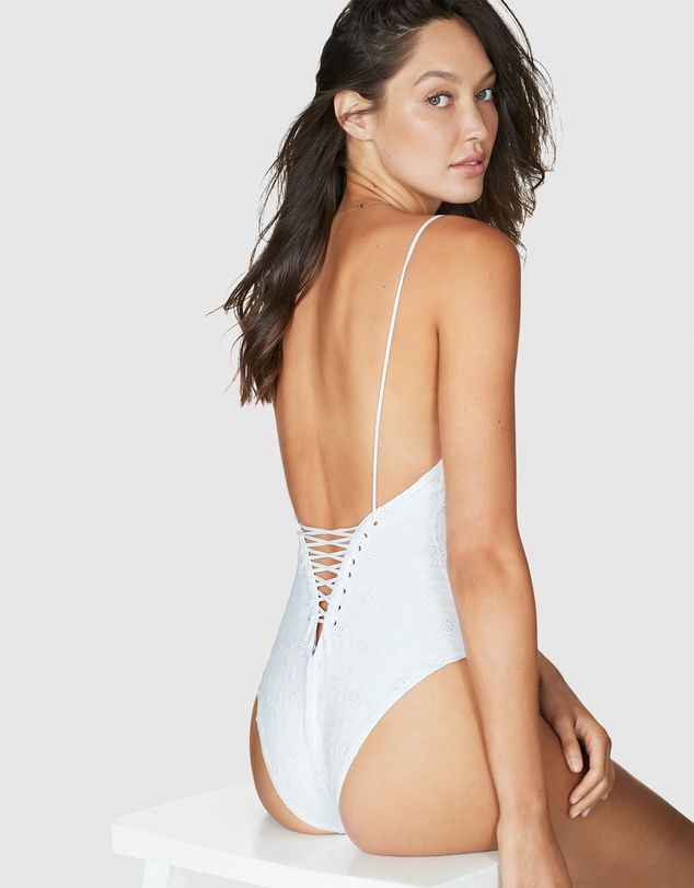 Bond-Eye Swimwear - Laced Through One Piece
