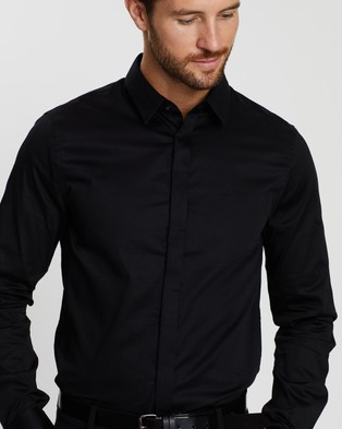 Armani Exchange Camicia Shirt - Shirts & Polos (Black)