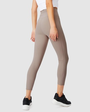 Cotton On Body Active Rib Pocket 7 8 Tights - 7/8 Tights (Mushroom)