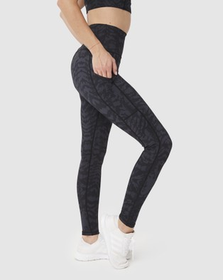 Muscle Republic Elevate Full Leggings - Full Tights (Charcoal)