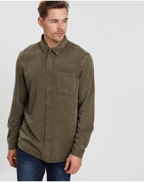 Staple Superior - Bryson LS Acid Wash Rayon  Shirt