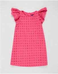 Polo Ralph Lauren - Woven Cotton Eyelet Dress - Kids