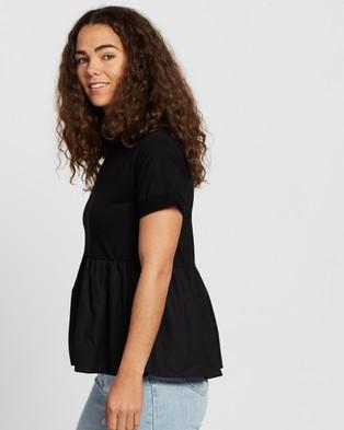Atmos&Here - Emma Puff Tee T-Shirts & Singlets (Black)