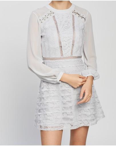 Topshop Lace Up Shoulder Mini Dress Blue