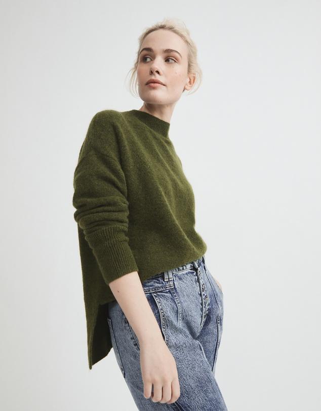 Women High Neck Lofty Knit