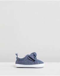 babyGap - Chambray Knot Bow Sneakers