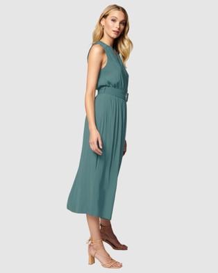 Forever New Penelope Tiered Midi Dress - Dresses (Slate Blue)