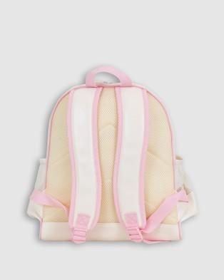 Bobbleart Large Backpack Lunch Bag Bento Box and Drink Bottle Forest Friends - Backpacks (Buff Pink)