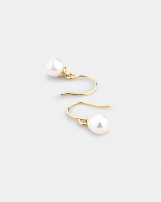 Michael Hill Pearl Earrings in 10ct Yellow Gold - Jewellery (Yellow Gold)