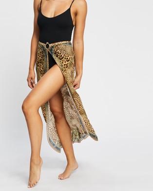 Camilla Ring Trim Long Sarong - Swimwear (Lady Lodge)
