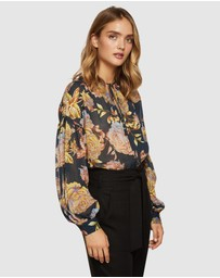Oxford - Mirabelle Navy Floral Tunic Top