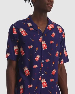 Huffer Get Lit Party Shirt - Shirts & Polos (Blue)